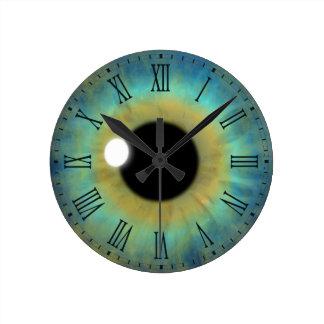 Horloge romaine ronde moyenne de globe oculaire