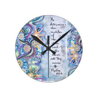 Horloge Ronde 147:4 de psaume il appelle les étoiles de nom