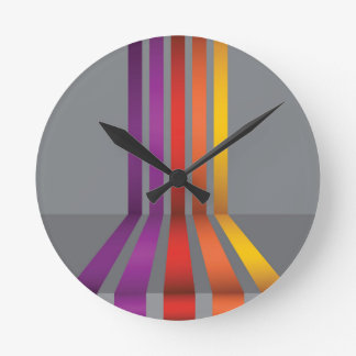 Horloge Ronde 80Colorful Lines_rasterized