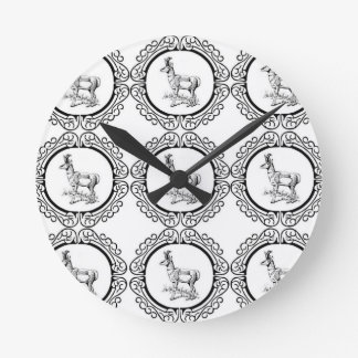 Horloge Ronde Abondance de Pronghorn
