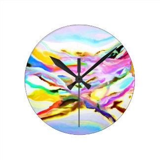 Horloge Ronde Abrégé sur côtier couleur