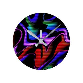 Horloge Ronde abstraction chaude avec les lignes 2