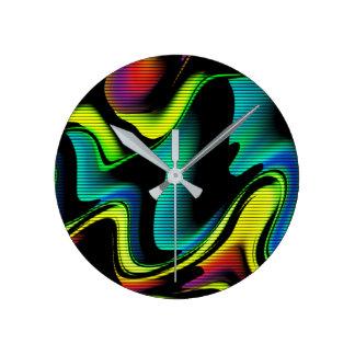 Horloge Ronde abstraction chaude avec les lignes 4