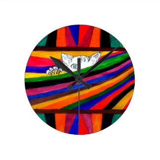 Horloge Ronde Abstraction rayée Design2