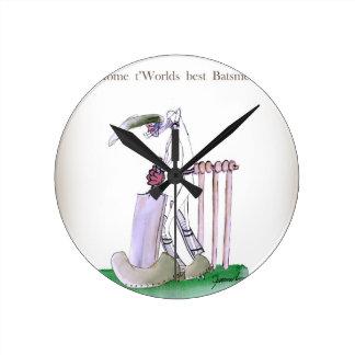 Horloge Ronde Aimez le cricket de Yorkshire 'à la maison aux