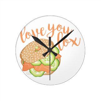 Horloge Ronde Aimez-vous saumon fumé