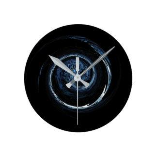 Horloge Ronde Alien bleu