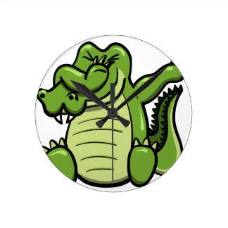 Horloge Ronde Alligator tamponnant d'animaux