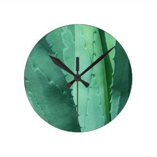 Horloge Ronde Aloès - macro photographie de beaux-arts