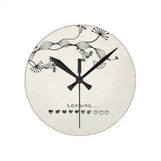 Horloge Ronde amour de chargement