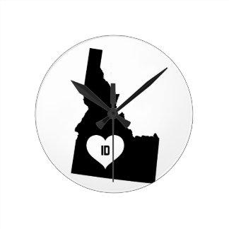 Horloge Ronde Amour de l'Idaho