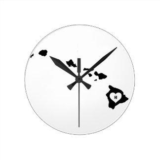 Horloge Ronde Amour d'Hawaï
