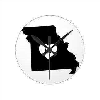 Horloge Ronde Amour du Missouri