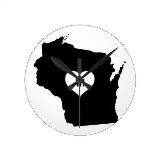 Horloge Ronde Amour du Wisconsin