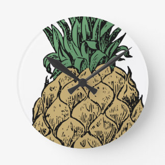 Horloge Ronde Ananas