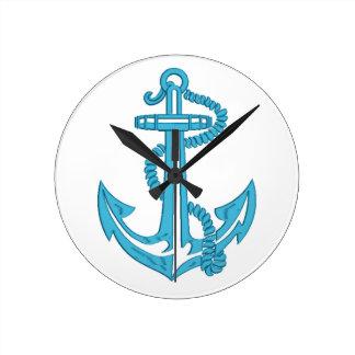 Horloge Ronde ancre - imitation de broderie