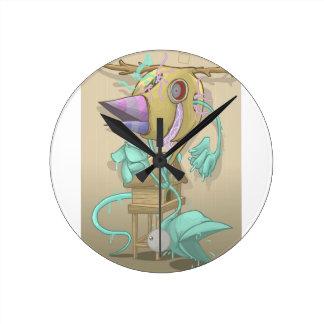 Horloge Ronde Animal de fantôme