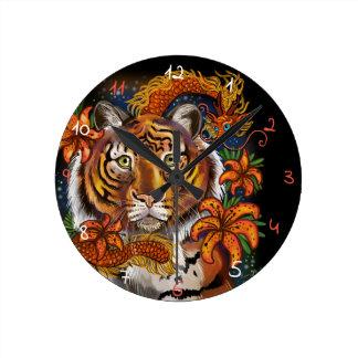 Horloge Ronde Année chinoise du tigre