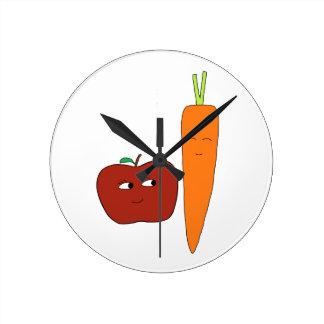 Horloge Ronde Apple-Carotte