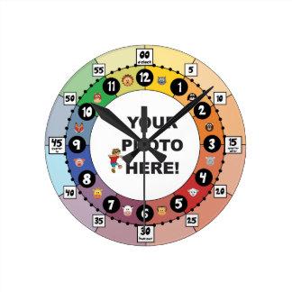 Horloge Ronde Apprenez à dire le horodateur (petit, avec des
