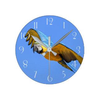Horloge Ronde Ara bleu