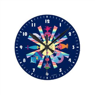 Horloge Ronde Arc-en-ciel Sun de paquet de casse-croûte des