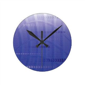 Horloge Ronde arrière - plan bleu