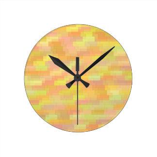 Horloge Ronde arrière - plan coloré