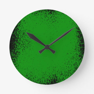 Horloge Ronde Arrière - plan grunge vert