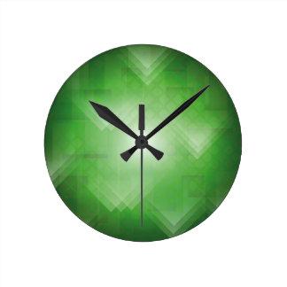Horloge Ronde arrière - plan vert