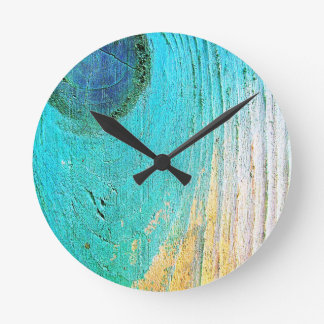 Horloge Ronde Art antique abstrait S de mode de style d'ordure