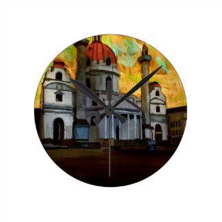 Horloge Ronde Art autrichien d'église