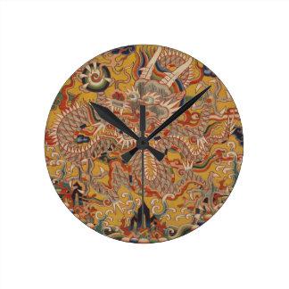 Horloge Ronde Art chinois asiatique impérial de dragon de Ming