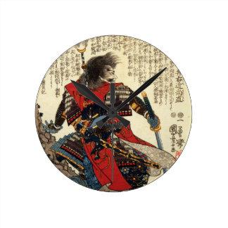 Horloge Ronde Art classique oriental de guerrier de cool
