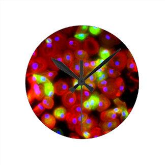 Horloge Ronde Art de la Science de cellules de macrophage
