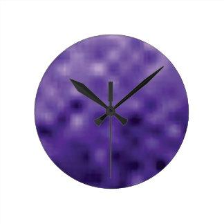 Horloge Ronde art pourpre de texture