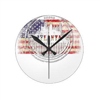 Horloge Ronde Atlanta-Drapeau
