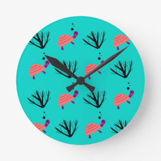 Horloge Ronde Badine le T-shirt avec des tortues