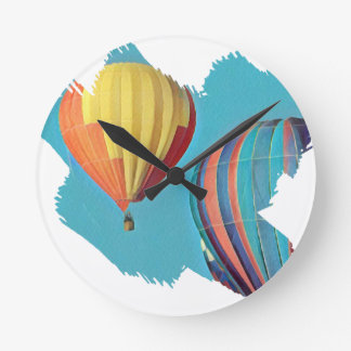 Horloge Ronde Ballons colorés 2