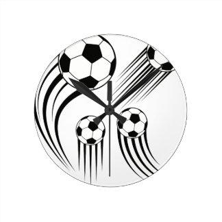 Horloge Ronde Ballons de football