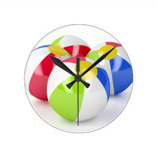 Horloge Ronde Ballons de plage