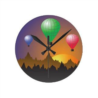Horloge Ronde Ballons stratosphériques