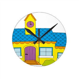 Horloge Ronde Bande dessinée d'école