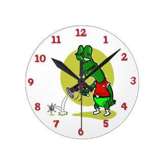 Horloge Ronde bande dessinée simple d'électron de pousse