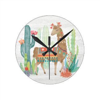 Horloge Ronde Beaux lamas III