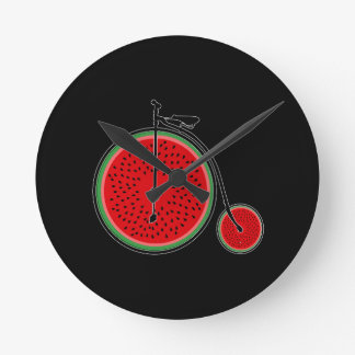 Horloge Ronde Bicyclette de pastèque