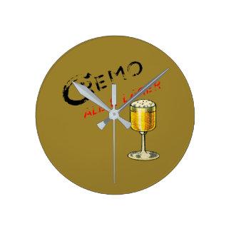 Horloge Ronde Bière de bière anglais de Cremo et blonde