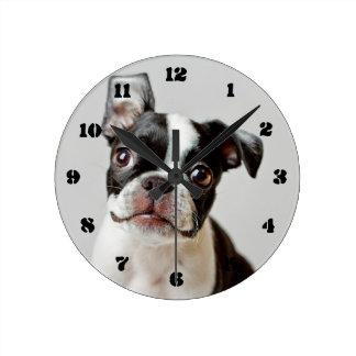 Horloge Ronde Boston Terrier