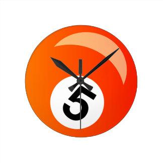Horloge Ronde Boule cinq