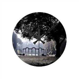 Horloge Ronde Brume de matin chez Ostia